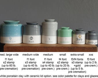 Info: Size chart for straight shaped urns. Urn needs to be purchased also.