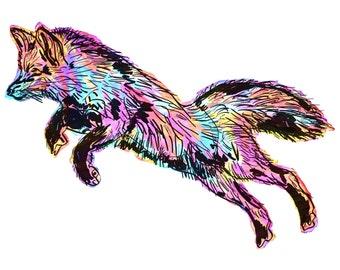 "Fox(5) Giclée Print - Cavanata - 8"" X 10"" Fox Graphic Fine Art Print, Original Illustration, Animal Art"