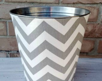 Choose Your Chevron Fabric Wastebasket