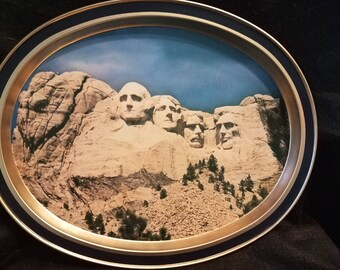 1960s/Mount Rushmore/Metal/Tray