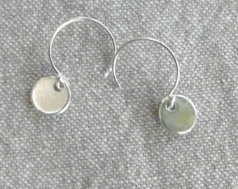 """""""Medal"""" Silver hook earrings"""