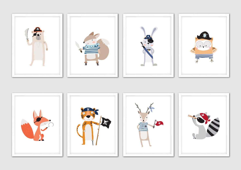 Piraten-Kinderzimmer-Kunst Piraten-Dekor Piraten-Wand-Kunst