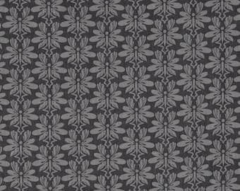 Dark Grey Damask Fabric, Fabric by the Yard, Fat Quarter, Quilting Fabric, Cotton Fabric, Sewing, Apparel Fabric, Damask Fabric, Gray Fabric