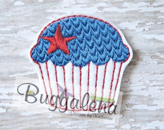 Cupcake Love Feltie Embroidery Design