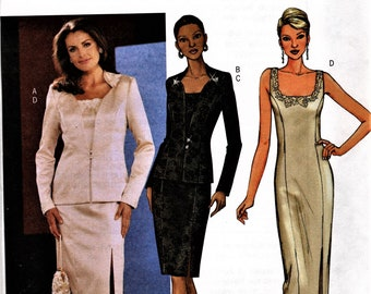 Butterick 3643     Misses/Petites Jacket and Dress for Special Occasions Size 8-12, or Size 14-18, or Size 20-24   UNCUT