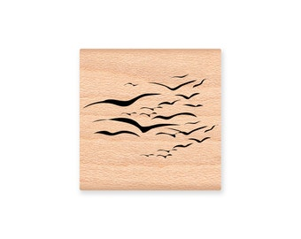 SEA GULLS-Wood Mounted Rubber Stamp (mcrs 31-18)