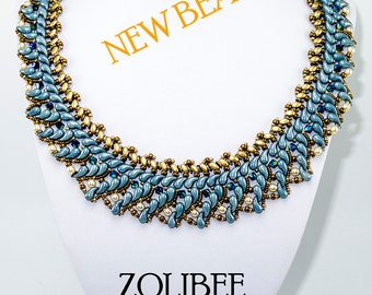 ZOLIBEE Zoliduo SuperDuo and O Beads Beadwork Necklace Instructions (for personal use only)