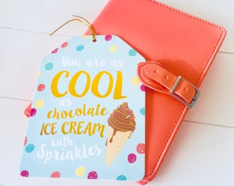 Quote card You are as cool as chocolate ice cream with sprinkles (CR01)