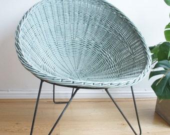 Mid century vintage Terence Conran wicker cone chair