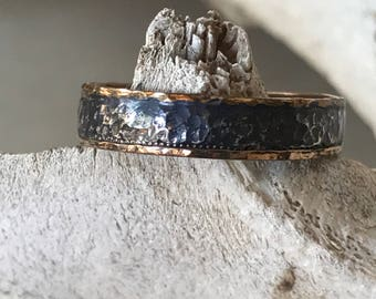 Textured Mixed Metals Ring