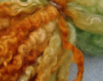 Leicester Longwool dyed locks - beautiful curls