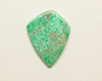 Variscite Gorgeous Mottled Bluish Green Aluminum Phosphate Mineral Loose Freeform Designer Shield Cabochon Gemstone