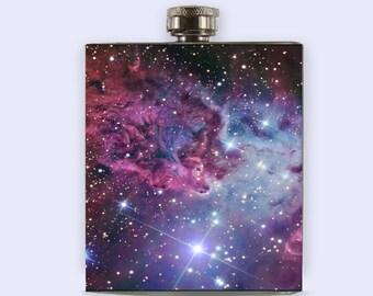 Nebula flask, stars, galaxy, space, flask