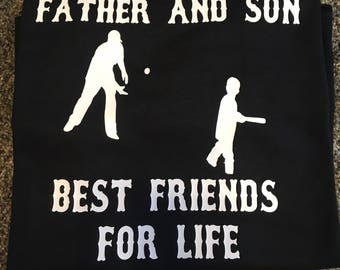 Father and Son Best friends for life. Baseball shirt.