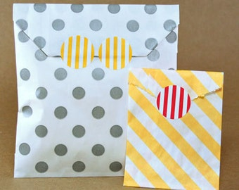 Petite Striped Circle Stickers