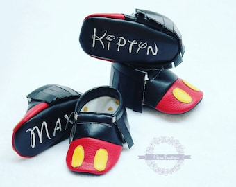 Mickey Moccs, -Baby Moccs, -Baby Moccasins, -Baby Shoes