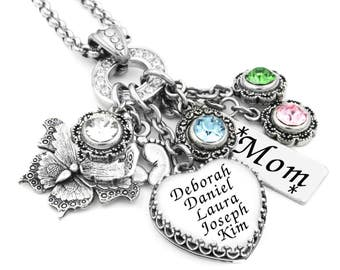 Personalized Mothers Necklace, Childrens Names, Grandmother Necklace, Family Jewelry, Mother's Day, Mom Jewelry, Nana, Mimi, Sister