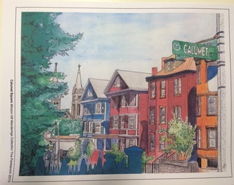 "Print of ""Calumet Square"" Mission Hill"