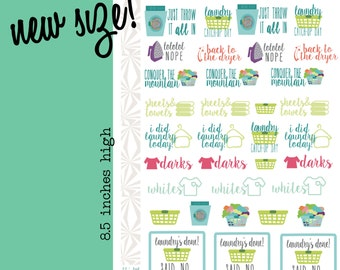 All the Laundry! | Laundry Day Planner Stickers (#020)