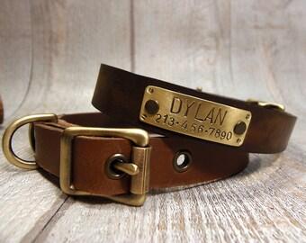 Personalized Dog Collar, Handmade Dog Collar, Dog Collar Leather, Adjustable dog collar, Leather Dog Collar, Dog Collar Personalized,