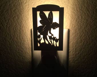 Night Light Kids - Night Light Plug In - Fairy Nursery - Fairy Night Light - Night Light Nursery - Fairy Garden - Nursery Decor - Laser Cut