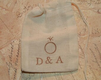 Wedding Ring Bag, Personalized Ring Bag, Ring Bearer, Ring Pillow Alternative, Rustic Wedding, Best Man Ring Bag, Ring Warming Ceremony