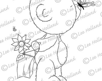Teddy with butterfly