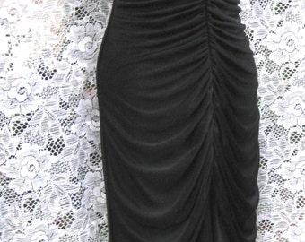 robe de bal des années 1980 XS victorien robe robe de style des années 80 des années 1980, robe noir froncé, formelle robe noire, robe formelle de noir xs extra petite robe