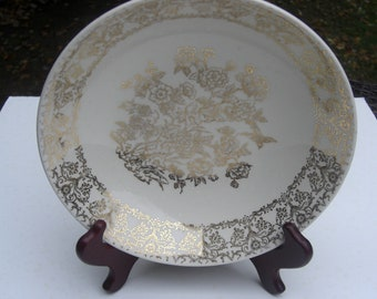 Royal China - SCARCE Gold Tree and Bird Pattern -  Vegetable Serving Bowl - 1950s