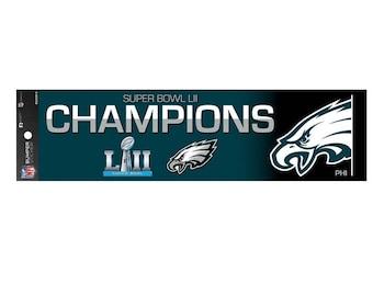 Philadelphia Eagles Super Bowl LII 52 Champions Bumper Sticker