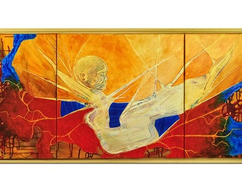 """Acrylic, abstract painting, Original Art by AG: """"LUCY"""", Gallery of modern & contemporary  Art The Artmakers"""