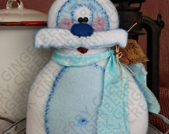E-Pattern - Nepal the Abominable Snowman Pattern #107 - Primitive Doll E-Pattern