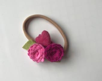 VALENTINE 5// delicate flower cluster// felt flowers