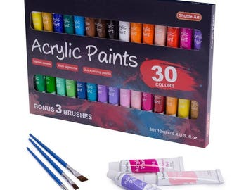 Large Acrylic Paint Set, Shuttle Art 30 x12ml Tubes Artist