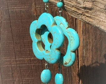 Simulated Turquoise Earrings