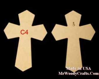 """9""""x 12"""" Unfinished Wooden Crosses, Choose from 8  styles, Ready to Paint, w/key holes.  6-4-13 A-NP"""