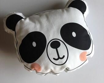 Panda cushion for kids fluffy little room in ready sale