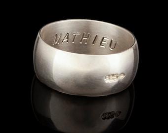 XL Matt silver domed ring