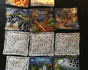 My first memory fabric couples with Savannah animals themed