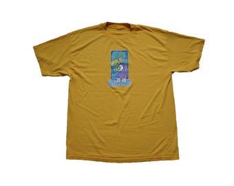 "Vintage 1990s Blink 182 ""Buzzard"" Tee // L/XL // Punk // Pop // Rock // Band // T Shirt // 90s // Music // Yellow"