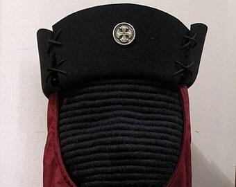 4-Sided Felt Hat w/Laced Corners - Gothic - Renaissance - SCA 15th c.