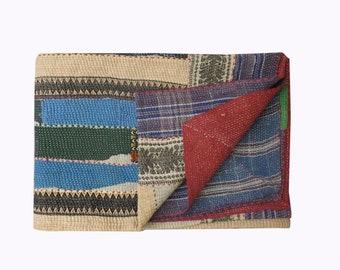 kantha quilt, vintage kantha quilt, indian quilt, kantha throw, coverlet, kantha throw, kantha blanket, kantha