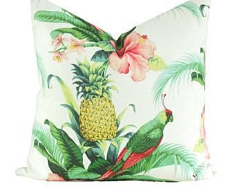 Housse de coussin ananas île