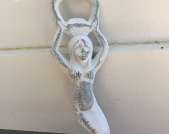 Bottle Opener, Cast Iron Bottle Opener, Mermaid, Mermaid Bottle Opener, Nautical Decor, Barware