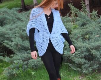 SALE BOHO Knit Soft  Cardigan Jacket  Coat swing jacket hand knit sweater shrug jacket New Boho Style