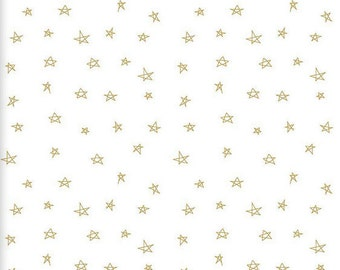 Gold Baby Sheet - Metallic Gold Nursery / Star Crib Sheet / Neutral Gold Baby Bedding /Mini Crib Sheet /Changing Pad Cover /Bloom Alma Mini