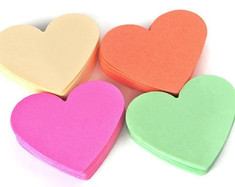 Heart die cuts pastel colors. Paper die cuts. Heart shape die cuts. Coral, Mint, Vanilla, Raspberry 40 pc. Weddings -  Valentines decor