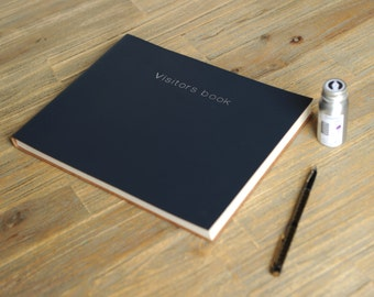 Leather Visitors Book