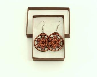 Metatrons Cube Earrings - Sacred Geometry Earrings - Sacred Geometry
