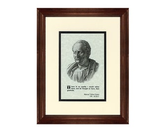 Print and Quotation of Cicero with Mat and Frame